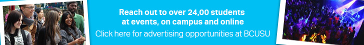 Advertise with BCUSU | Birmingham City Students' U