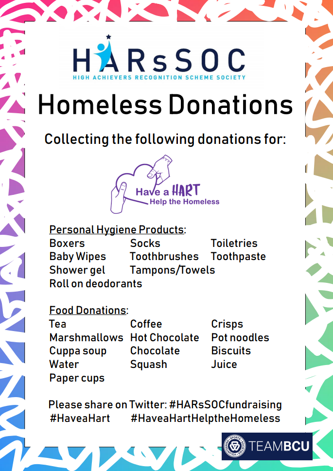 Fundraising: Homeless Donations