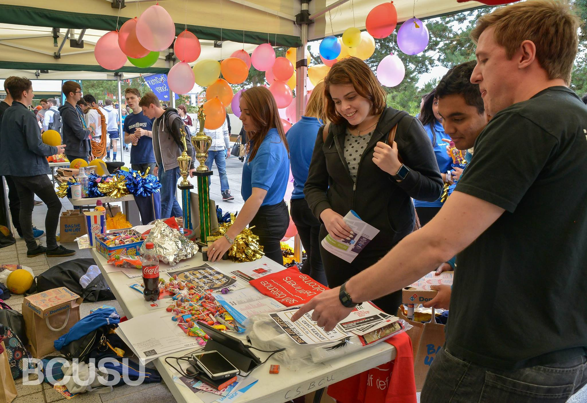 Photograph of society stall at BCUSU's Big Welcome Fair